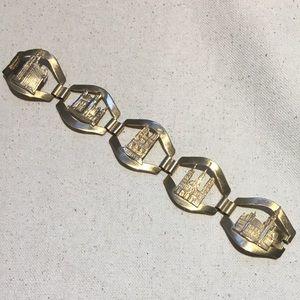 Vintage Gold French France Souvenir Bracelet
